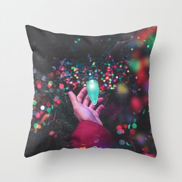 The Christmas Light (Color) Throw Pillow