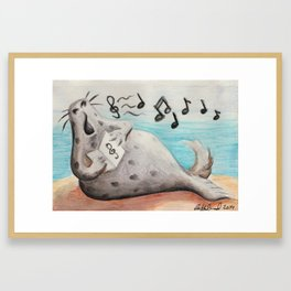 Singing Seal Framed Art Print