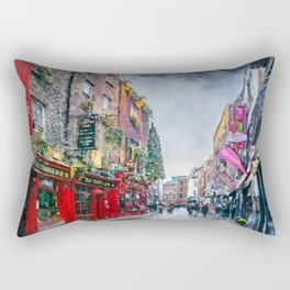 Dublin art #dublin Rectangular Pillow
