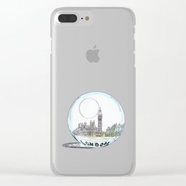 London painted in pastel colours in a glass bowl Clear iPhone Case