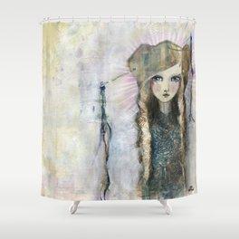 Gesso Geisha by Jane Davenport Shower Curtain