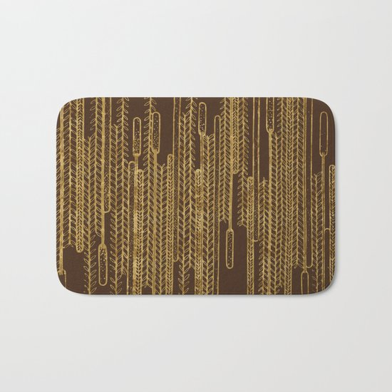 Plants over the water Bath Mat