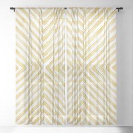 Gilded Bars Sheer Curtain