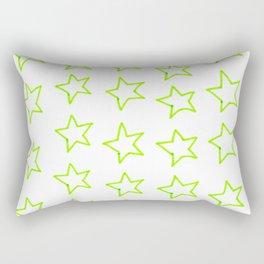 Green Stars Rectangular Pillow