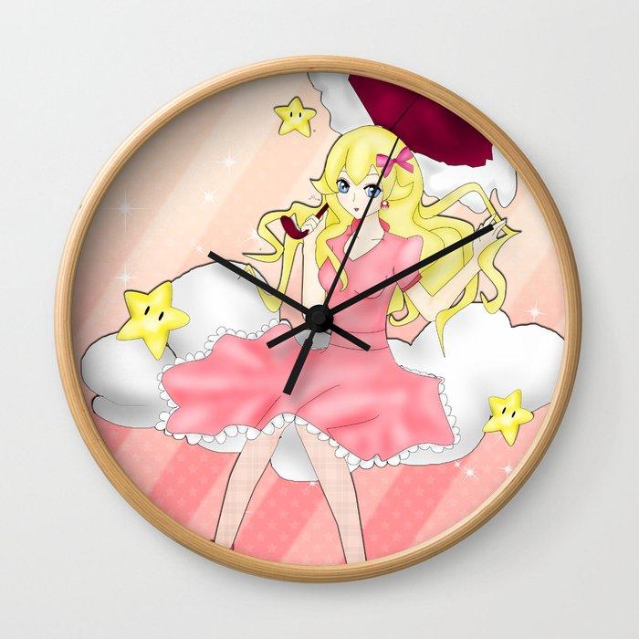 In the Sky:Peach Wall Clock