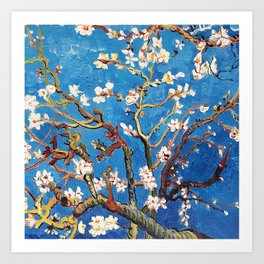 Van Gogh Branches of an Almond Tree in Blossom Art Print