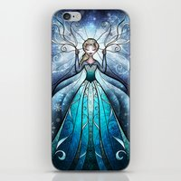mandie manzano iPhone & iPod Skins featuring The Snow Queen by Mandie Manzano