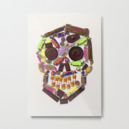 Candy Skull Metal Print