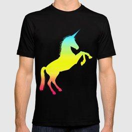 Ombre Magical Rainbow Unicorn Colors T-shirt