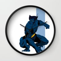 beast Wall Clocks featuring Beast by Andrew Formosa