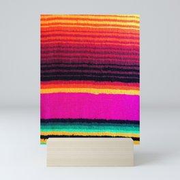 Magenta Sky Serape Mini Art Print