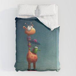 Winter Giraffe Duvet Cover
