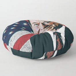 Patriotic President Reagan Floor Pillow