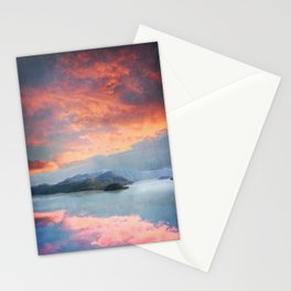 Sunset Over Lake Como Italy Stationery Cards