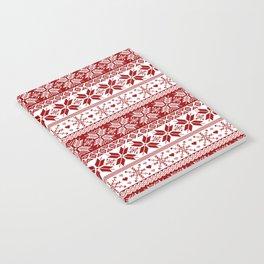 Red Winter Fair Isle Pattern Notebook