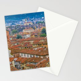 Aerial View Historic Center of Lucca, Italy Stationery Cards