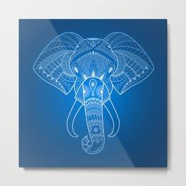 Serious Elephant Two Metal Print