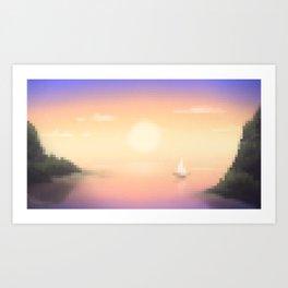 Purple Cove Art Print