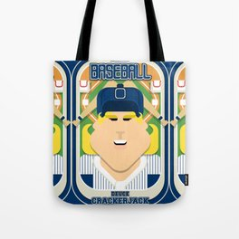 Baseball Blue Pinstripes - Deuce Crackerjack - Hazel version Tote Bag