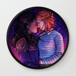 Kelly and Yorkie Wall Clock