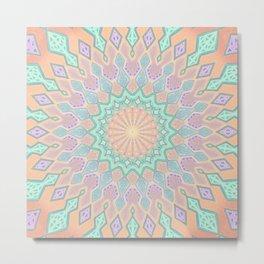 Crystal Magic - Mandala Art Metal Print