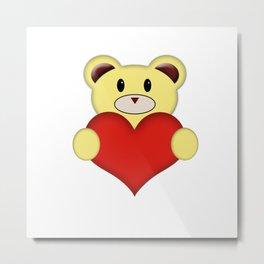 Teddy Bear with love heart Metal Print