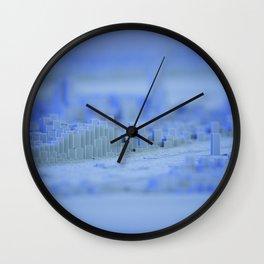 cold winter blocky metropolis Wall Clock
