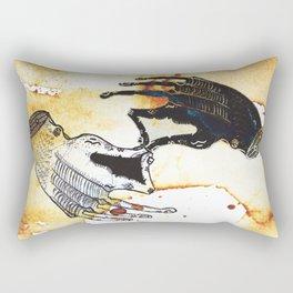 Coffee Hands YinYang Rectangular Pillow