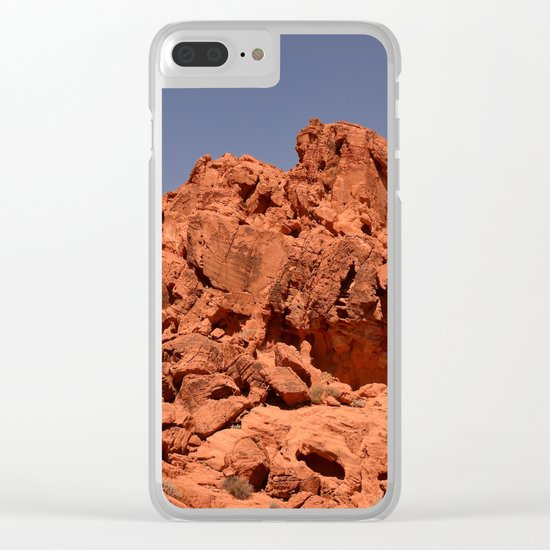 Red Valley III Clear iPhone Case