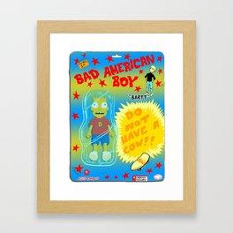 Bad American Boy Framed Art Print