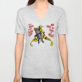 Scud The Disposable Assassin: Jesus with a Laser Gun! Unisex V-Neck
