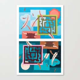 Labyrinth (Night & Day) Canvas Print
