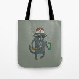 "Raccoon wearing human ""hat"" Tote Bag"
