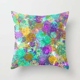 Smudges Abstract Throw Pillow