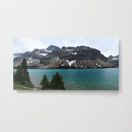 Bow Lake With Crowfoot Mountains Metal Print