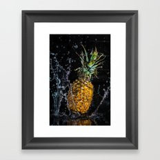 A splash of pineapple Framed Art Print