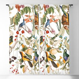 Floral and Birds XXXII Blackout Curtain