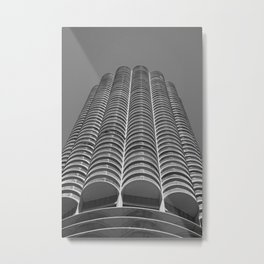 Marina City Tower Photo, Chicago, Architecture Metal Print