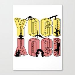 Daily Design 1 - Yogi Canvas Print