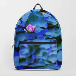 Water lilies in a pond Backpack