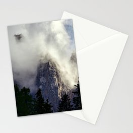 Mystical Mountains in Clouds, Landscape Nature Photography Stationery Cards