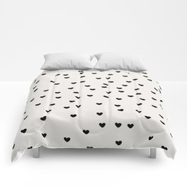 Lots of Little Hearts Brush Strokes Pattern Comforters