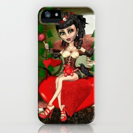 Candy Apple Love Gothic Lolita Digital Art  iPhone Case