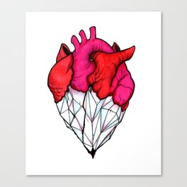 Crystal Heart Canvas Print