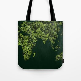 Green leaves pattern map Tote Bag