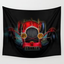 Fractal Red vintage car Wall Tapestry