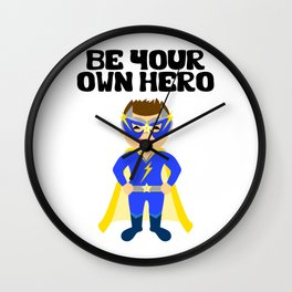 Be your Own Hero Boy Wall Clock