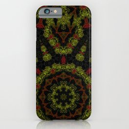 Red Yellow and Black Kaleidoscope iPhone Case