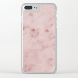 Profundo pink marble Clear iPhone Case