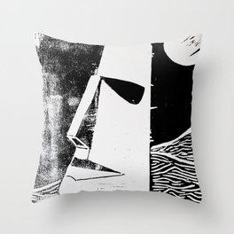 Photo White - Abstract Surrealism Print Throw Pillow
